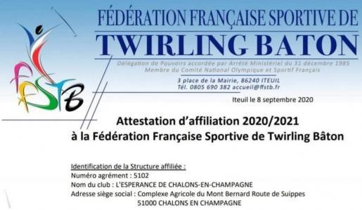 Affiliation twirlingbaton